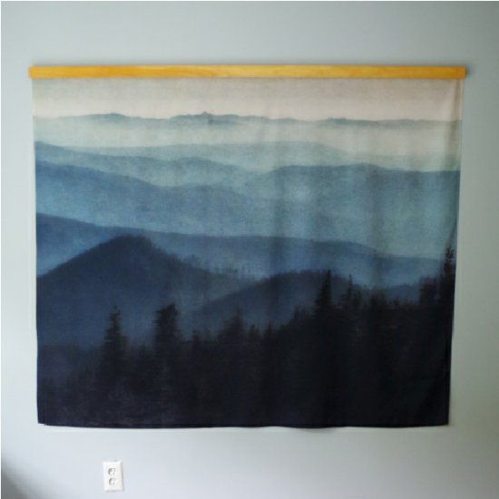 Make this simple DIY hanger for a tapestry for beautiful, affordable large scale art that doesn't look like a college dorm!