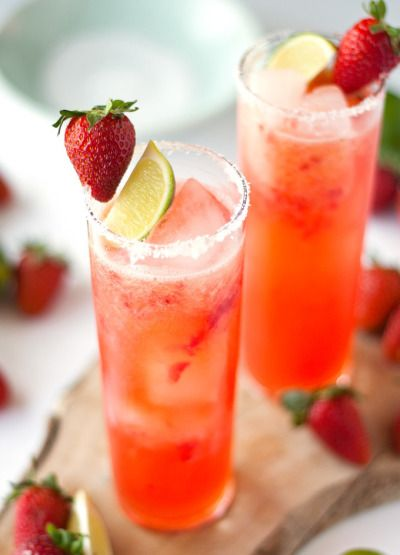 A twist on a classic: http://www.stylemepretty.com/living/2015/05/03/roasted-strawberry-margaritas/   Recipe: A Happy Food Dance - http://ahappyfooddance.com/