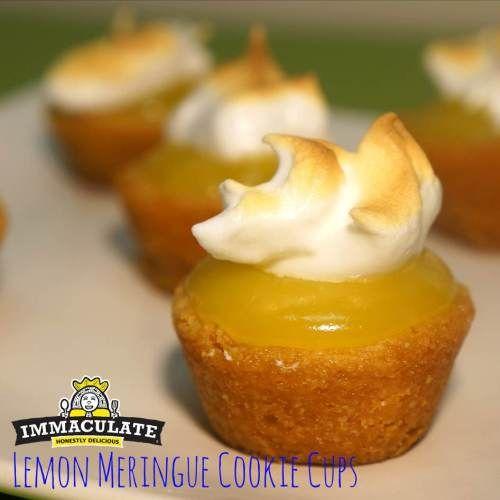 Lemon meringue cookie cups | ALL things lemon!! | Pinterest