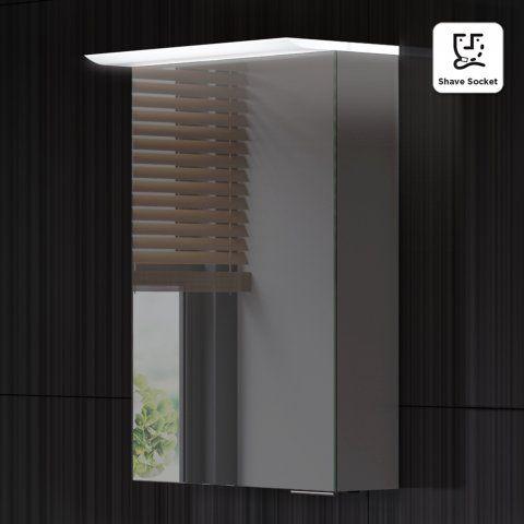 612x400mm Phoenix Illuminated LED Mirror Cabinet & Shaver Socket