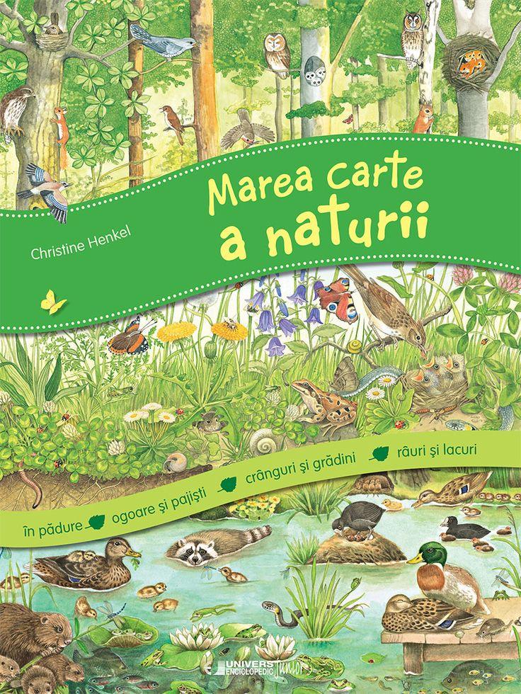 O carte de vis pentru toți cei care iubesc natura. Împărțit în patru mari capitole: În pădure, Pajiști și Câmpii, Crânguri și Grădini, Pâraie și Iazuri, volumul dezvăluie diversitatea viețuitoarelor din natură într-o succesiune de imagini ilustrate cu multă măiestrie. Cele peste 370 de imagini individuale care se regăsesc pe marginea paginii îi vor ajuta pe micii cititori să pătrundă în tainele naturii, până în cele mai mici detalii.