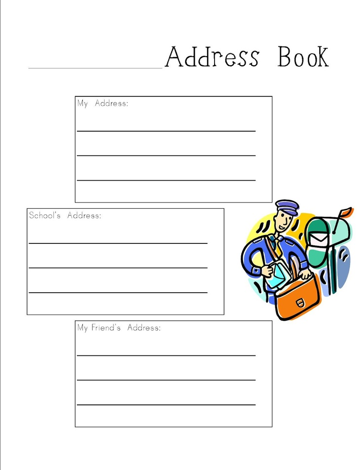 writing an envelope worksheet