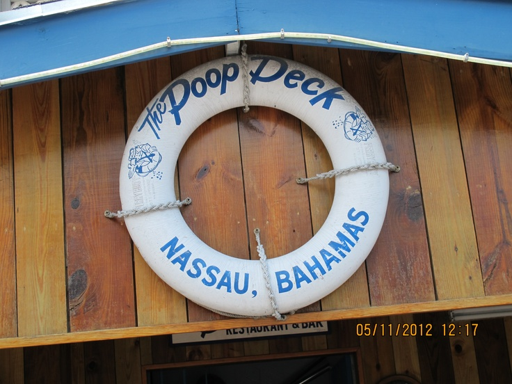 The Poop Deck ! My Fav. Place to Eat in Nassau, Bahamas