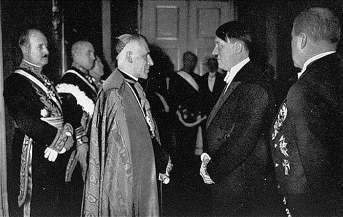 Adolf Hitler and Pope Pius XI (Achille Ratti)