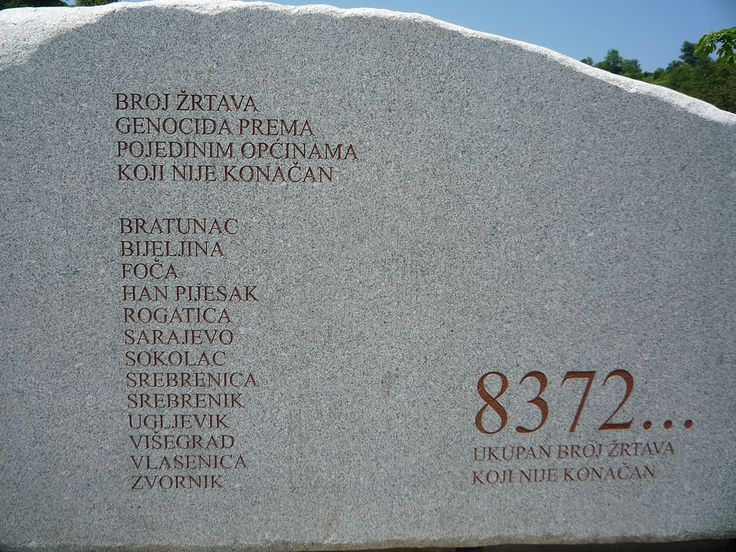 Monument du Mémorial et Cimetière de Srebrenica-Potocari - Massacre de  Srebrenica
