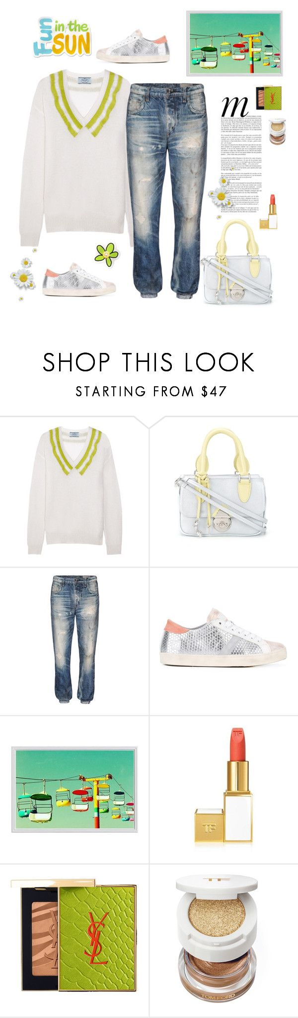 """""""Less is more"""" by juliabachmann ❤ liked on Polyvore featuring Prada, Sarah Chofakian, rag & bone/JEAN, Whiteley, D.A.T.E., Pottery Barn, Yves Saint Laurent and Tom Ford"""