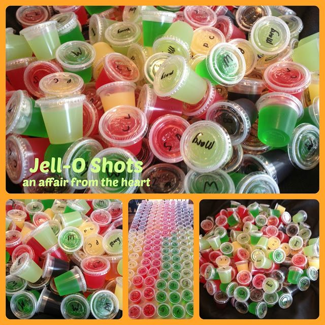 Margarita Jello Shots Tequila | an affair from the heart: Jell-o Shots -- 8 Different Flavors!!