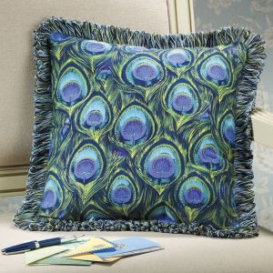 Peacock Feathers Reversible Pillow - Furniture, Home Decor & Home Furnishings, Home Accessories & Gifts   Expressions