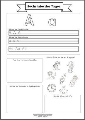 Buchstaben erarbeite ich in der 1. Klasse durch einen Lernweg mit verschiedenen Pflicht- und Wahlstationen (kneten, in Sand schreiben, an d...