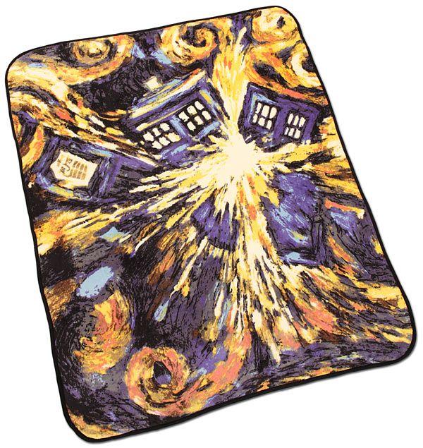 "Doctor Who Exploding TARDIS Throw, 50""x60"""