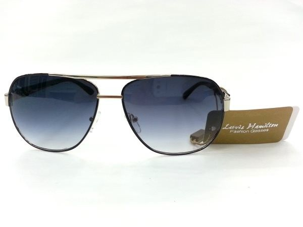 Lewis Hanmilton Aviator Black Metal Sunglasses