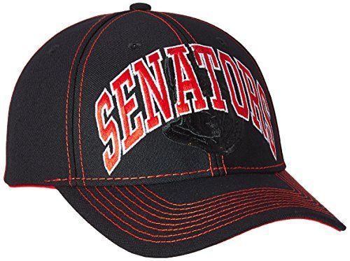 NHL Ottawa Senators Men's Face-Off Slap Shot Structured Adjustable Cap, One Size, Black