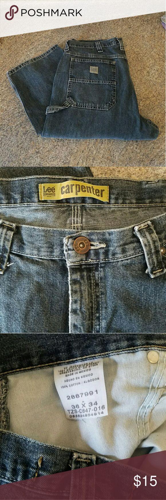Men's Lee Carpenter Jeans 36x34 Men's Lee Dungarees Carpenter Jeans.  36x34.  Euc. Lee Jeans