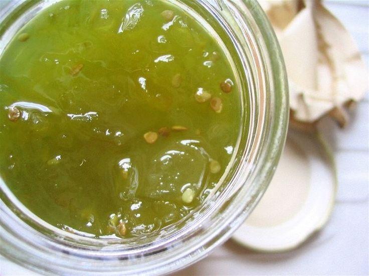 Confiture de tomates vertes, orange et citron
