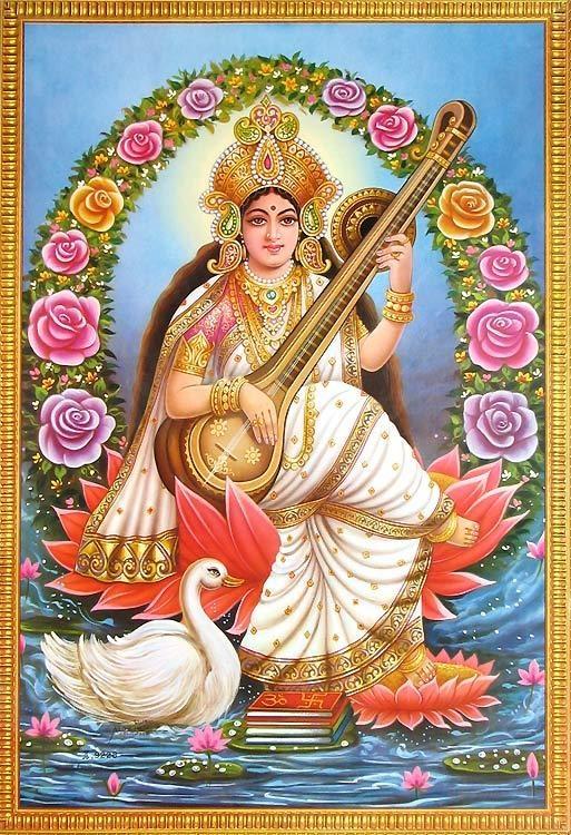 Saraswati ~ Goddess of music, art, knowledge and poetry