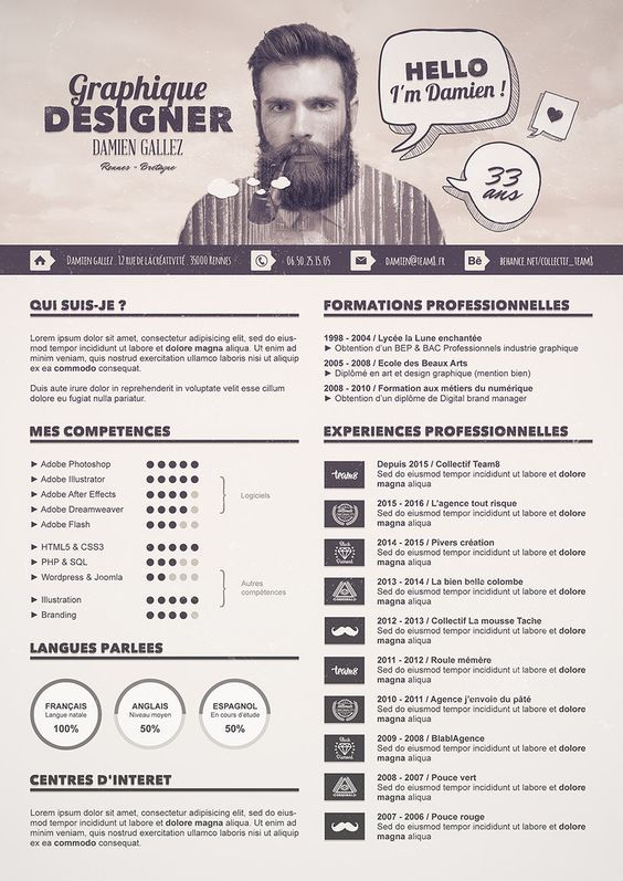 8 best Inspiration CV images on Pinterest Cv template, Resume - fashion resume template