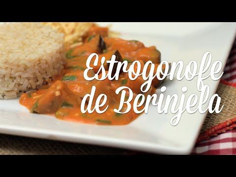 Estrogonofe de Berinjela - Presunto Vegetariano