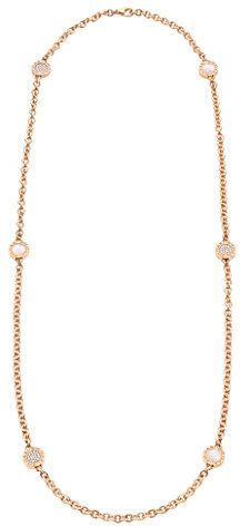Mother of Pearl Bvlgari BVLGARI-BVLGARI Sautoir 18ct pink-gold necklace with and pavé diamonds on shopstyle.com