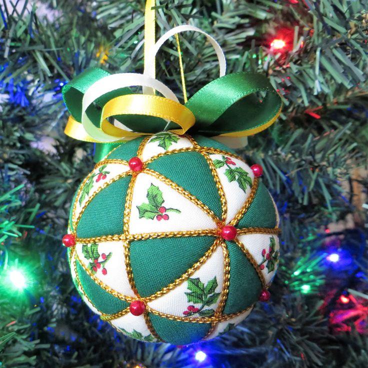 Christmas Ornament Materials Kit -  Holly - Kazaguruma by OrnamentDesigns on Etsy