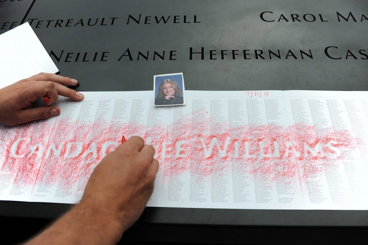 A rubbing for Candace Lee Williams at the National September 11 Memorial (https://www.facebook.com/pages/The-Candace-Lee-Williams-Run-to-Remember/235803209774036) #honor911