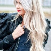 Super Long Blonde Hairstyle With Bangs and Layers