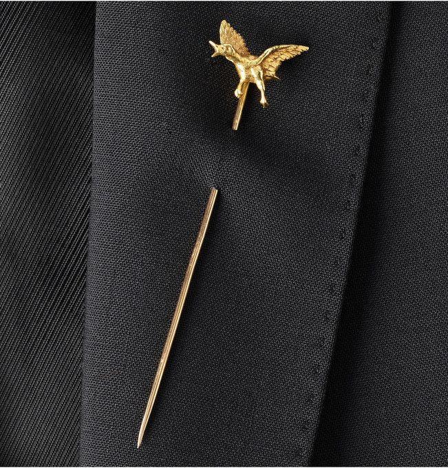 18-Karat Gold Mallard Tie Pin by Foundwell
