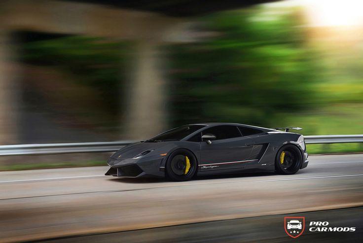 Rolling shot of Lamborghini Superleggera https://procarmods.com/projects/lamborghini-gallardo-lp570-4-superleggera-on-adv-1/