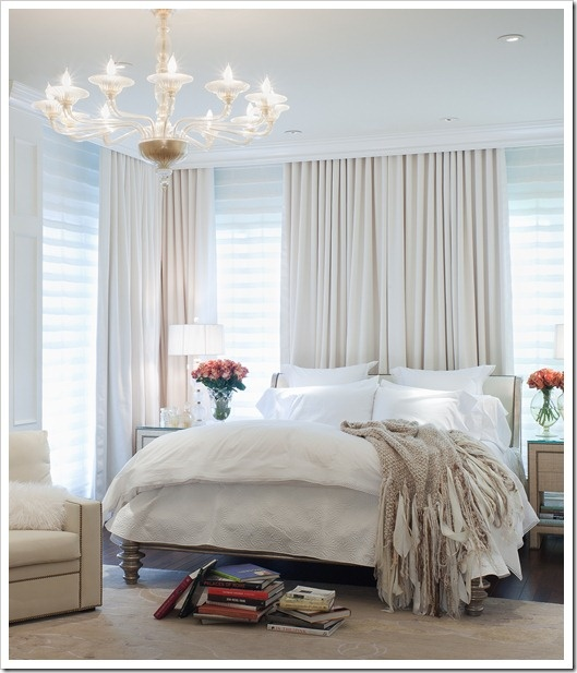 Beautiful bedroom but i would put the bed against a wall not windows its better fen shui