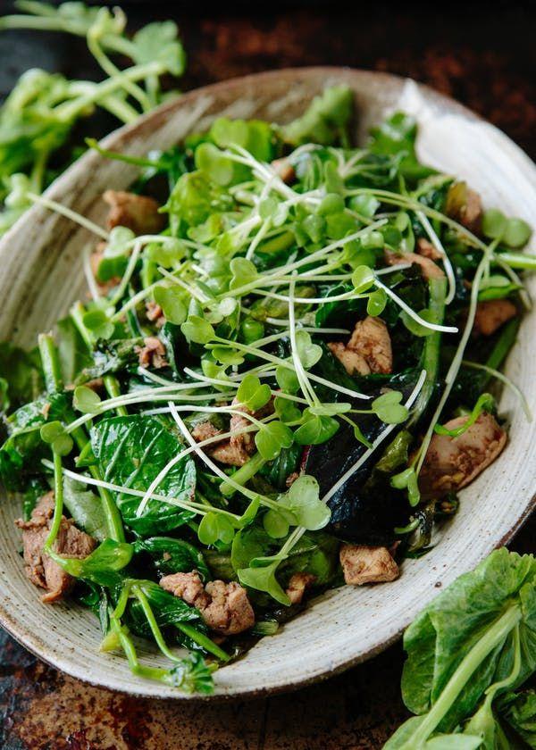 Recipe: Nigel Slater's Five-Spice Chicken & Pea Shoot Salad | Kitchn