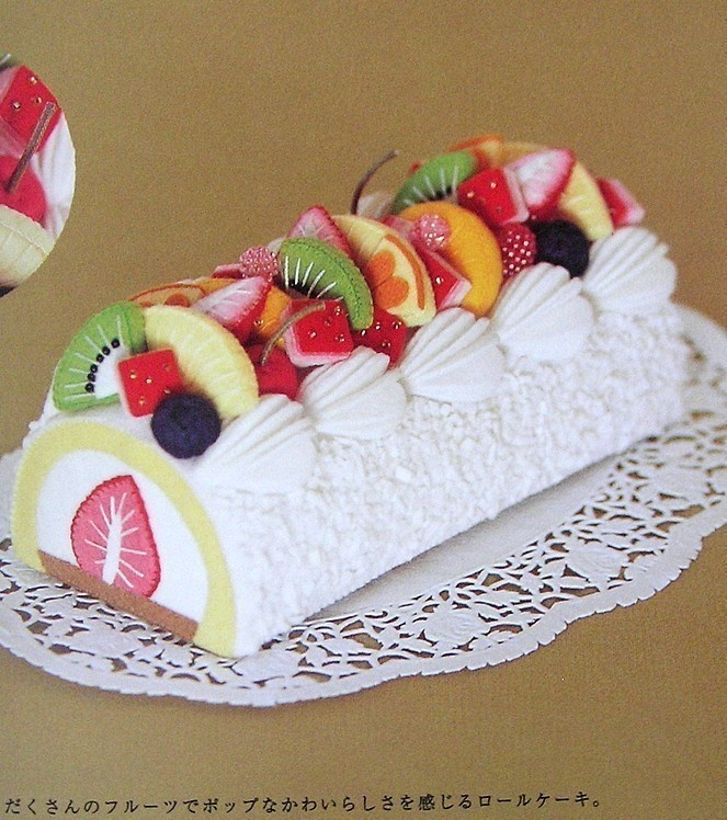 Out-of-print Ruko's Cake Made of Felt - Japanese craft book. $60.00, via Etsy.
