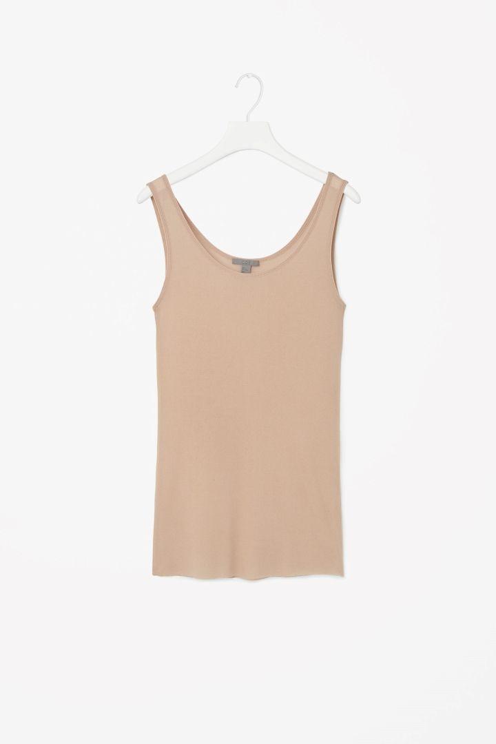 Sheer silk vest top