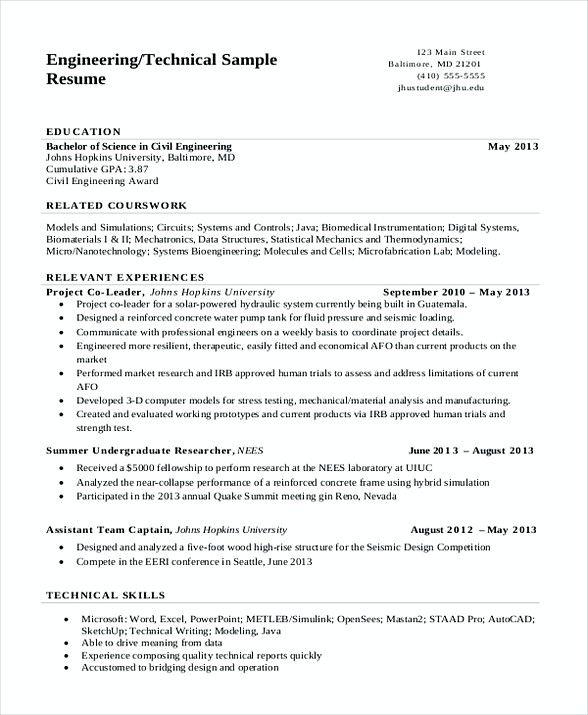 Technical Engineering Resume Software Engineering Manager Resume If You Are Seeki Free Resume Template Word Engineering Resume Templates Engineering Resume