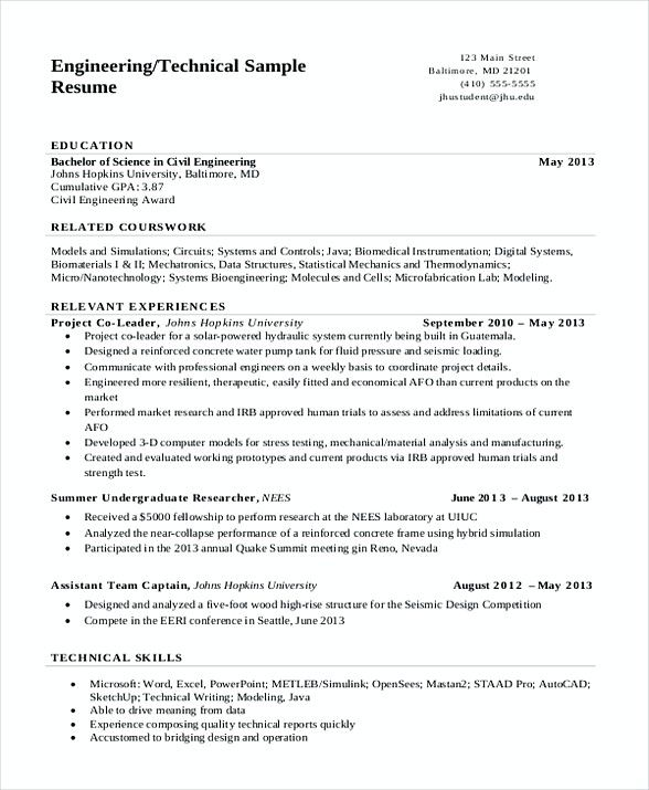 Technical Engineering Resume Software Engineering Manager Resume If You Are See Free Resume Template Word Engineering Resume Templates Resume Template Word