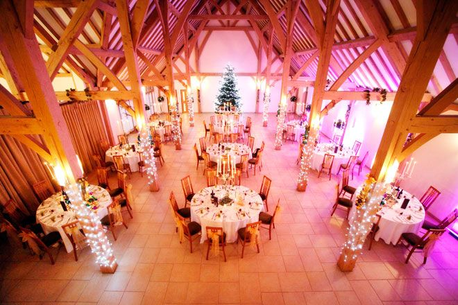 Christmas themed wedding reception at Rivervale Barn | www.allabouttheimage.co.uk