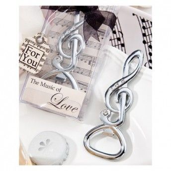 Apribottiglie decorato con brillantini, ottimo come bomboniera in un matrimonio #moderno