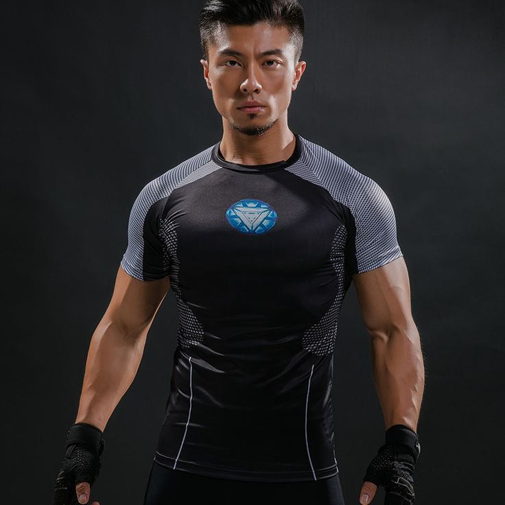 The unique Rashguard Short Sleeve Tee Shirt Crossfit Iron Man Armor Reactor  -  This t-shirt looks like natural superhero gear! Fits perfectly rash guard tee shirt is ideal for sport and daily usage. This shirt contains lycra, which allows  material  stretch to the several sizes and comes back to normal size. Perfectly breath tissue, the color doesn't fade over time.  Check more at…