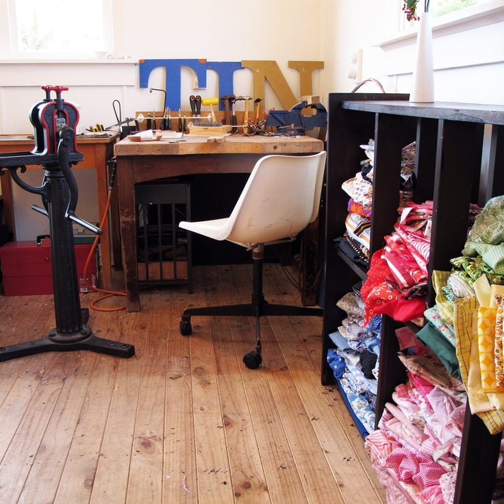 I have my old jewellery workbench in the studio - never used these days, but I'm determined it will be sometime...