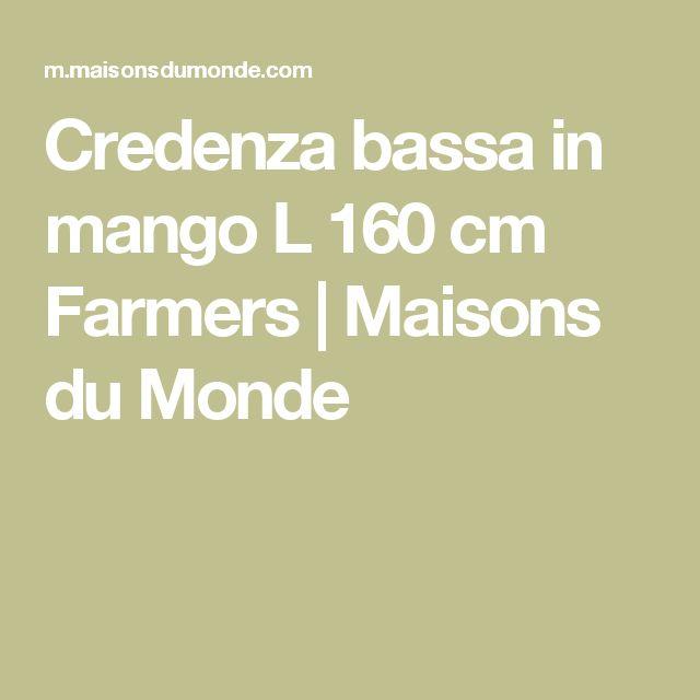 Credenza bassa in mango L 160 cm Farmers | Maisons du Monde