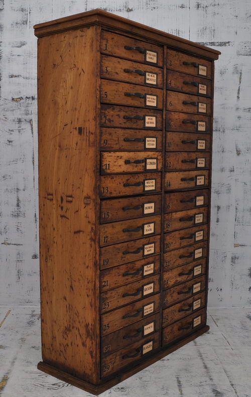 Tall Multi Drawer Pine Chest C1900   Antiques Atlas