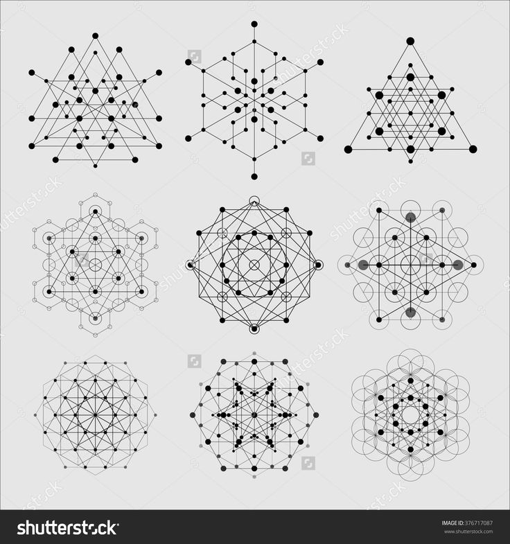 Sacred Geometry Vector Design Elements. Alchemy, R…