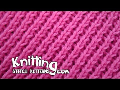 How to Knit the Left Slanted Diagonal Purl Ridge Stitch - YouTube