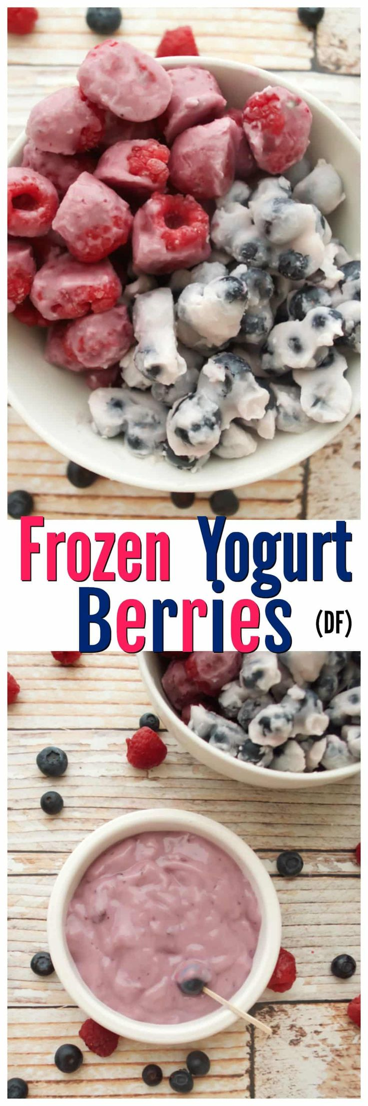Enjoy a healthy snack twist with this frozen yogurt berry recipe that's dairy-free