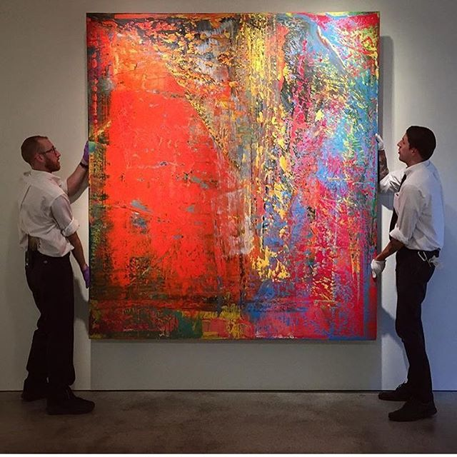 Regram Sotheby's... again! Wow... now this is beautiful! #gerhardrichter #sothebys #contemporaryart #want