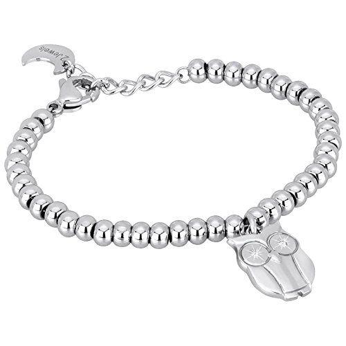 Aus der Kategorie Armbänder & Armreifen  gibt es, zum Preis von EUR 40,00  • Armband aus der Puppy Kollektion • Edelstahl mit Zirkonia • Farbe silber, Oberfläche glänzend • 19 cm lang