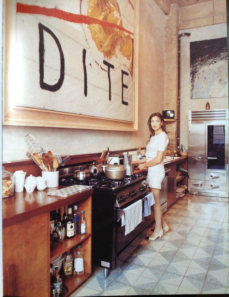 Olatz Shnabel in her kitchen