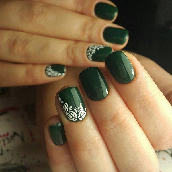 Accurate nails, Beautiful summer nails, Everyday nails, Green shellac, Ideas of winter nails, Manicure by summer dress, Nail designs for short nails, Nails ideas 2016