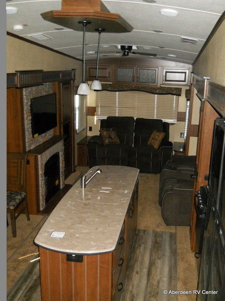 Rv Countertop Options : plan with Electric Fireplace, LED HDTV, Solid Surface Countertops ...