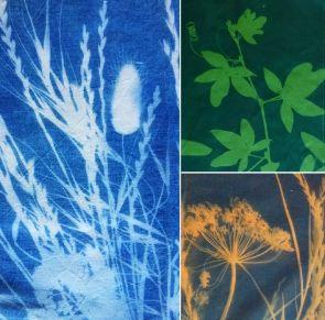 Cyanotype sur tissu {tuto} - utiliser le tissu comme du papier photo !!!! ^^