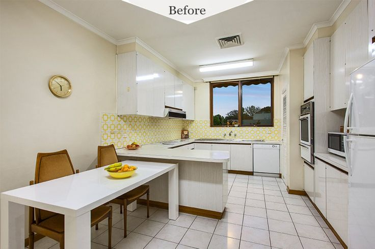Before and After - renovation of a old kitchen with NONAGON.style