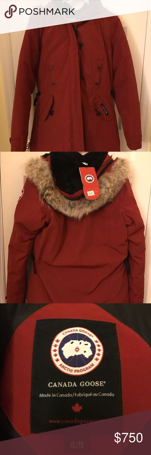 Canada Goose Women's Parka Authentic Canada Goose women's parka. Brand new, never worn with tags size XL. Purchased for myself, but is too large for me. No trades! Canada Goose Jackets & Coats
